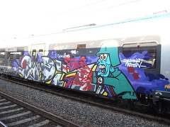 edeaineb piraten (en-ri) Tags: train writing torino graffiti grigio zombie crew sdk 2015 soldato opak