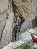2nd Rappel with the squeeze (HendrikMorkel) Tags: mountains alps mountaineering chamonix alpineclimbing arêtedescosmiques arcteryxalpineacademy2015