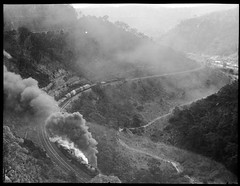 Unidentified locomotive and freight winding up through rail line [n.d.] (UON Library,University of Newcastle, Australia) Tags: locomotives steamengines australianrailways lithgowzigzag arhsbox411264 railroadsaustraliahistory