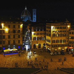 Drinks with a #view #Duomo #Cathedral #beautiful #skyline #urban #history #Florence #Italy #Leica #Q transferred to #iPhone #world #traveller #picoftheday (mickyates) Tags: leica travel light urban italy moon skyline night square florence duomo q iphoneography