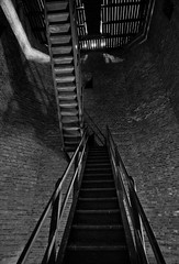 The Staircase_JWA1293 (jonwaz) Tags: blackandwhite bw abandoned blancoynegro nikon europa sweden staircase tower r water jonwaz