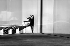 With four arms (pascalcolin1) Tags: paris13 bnf homme man spot bras arms quatre four ombre shadows lumière light photoderue streetview urbanarte noiretblanc blackandwhite photopascalcolin sportif sportsman