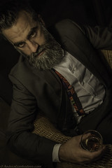 Amaro (Andrea Gambadoro) Tags: fashion andrea portrait self dark amaro drink man masculine beard bearded bear photography photographer scruff moody mood look pose posing modelling model male