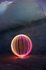 Glacial Globe (BlaisOne) Tags: lightpainting lightartperformancephotography lightjunkie ball light longexposure glacier sheridan cordova alaska