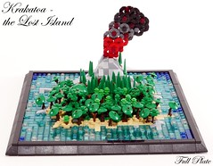 Krakatoa - the Lost Island (1 of 3) (Emil Lidé) Tags: lego moc krakatoa microscale island jungle
