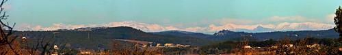Alpes de Provence vu d'Entremont au Nord d'Aix-en-Provence