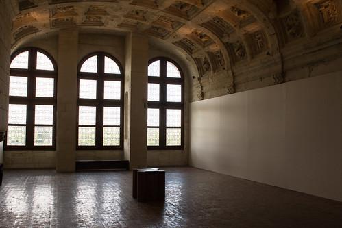 La salle des voûtes à caissons,, Château de Chambord