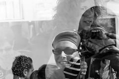 The Strangers of the Boat (parenthesedemparenthese@yahoo.com) Tags: dem bw blackwandwhite camera ete femmes france larochelle littleboy men monochrome nb noiretblanc reflections selfie women apn bateau boat byn canoneos600d ef50mmf18ii enfant eyescapture faces hommes petitgarçon reflecting regards réflections strangers summer sunglasses visages étrangers