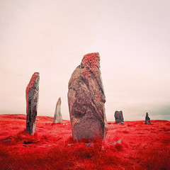 Callanish II (Mark Rowell) Tags: callanishii isleoflewis outerhebredies scotland ir eir infrared aerochrome hasselblad 903 swc stonecircle 6x6 120 mediumformat expired film