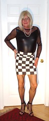 Checked again (donnacd) Tags: sissy tgirl clit clitty tgurl jewels dressing crossdress crossdresser cd travesti transgenre xdresser crossdressing feminization tranny tv ts feminized domina donna red dress scarf heels gold crossed legs pumps shoes panties thong polka dots white blouse earrings hair black stockings tights bra fishnet corset necklace collar he she look 易装癖 シーメール 性転換 第三性 跨性别 ミスターレディ