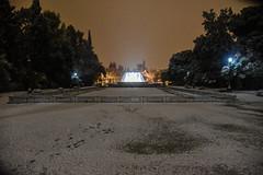 GREECE-WEATHER-SNOW (X-Andra) Tags: center greek zappion athens cold greece heavy park snow snowfall winter zappeion attica grc