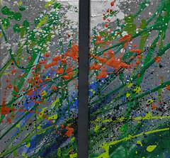 Diptych - Ditch Lily Dance (BKHagar *Kim*) Tags: bkhagar art artwork paint painting diptych color colorful lily lilies dance ditch motion gift
