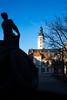 Gera - Rathaus und Färberbrunnen (gena4pics) Tags: rathaus cityhall brunnen fountain architektur architecture haus house stadt city landschaft himmel sky