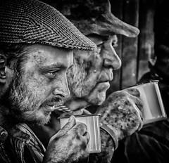 The Tea Break (Andy J Newman) Tags: dorset gdsf silverefex monochrome candid street d500 nikon break man portrait blackandwhite tea men tarrantlaunceston england unitedkingdom gb