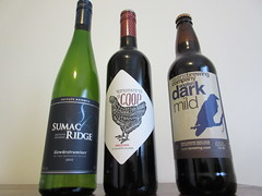 Wine now, beer later (jamica1) Tags: bottles wine beer okanagan canada sumac ridge red rooster ravens brewing company
