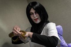 _DSC9658 (In Costume Media) Tags: orochimaru cosplay costume newcon newcon5 pdx naruto shippuden jiraiya kakashi sensei ninija cosplays cosplayers evil snake fight dark green eyes