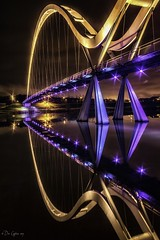 Infinite Ambition. 2017 (Dave Cappleman - inspired by your work!) Tags: infinitybridge stocktonontees tees bridge infinity reflections colours lights night