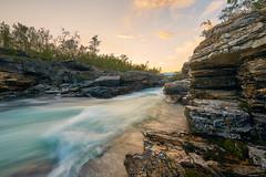 Abiskojokka River in Abisko National Park (jameslosey) Tags: abiskojokka abiskojokkariver abisko abiskonationalpark lapland northernsweden sweden scandinavia sunset midnightsun