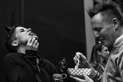 13th Street near Chestnut Street, 2016 (Alan Barr) Tags: philadelphia 2016 chestnutstreet 13thstreet street sp streetphotography streetphoto sony blackandwhite bw blackwhite mono monochrome candid people panasonic lumix gx8