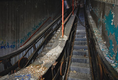 Well That Escalated Quickly (jgurbisz) Tags: jgurbisz vacantnewjerseycom abandoned nj ny sleepyhollow escalator decay stairs up industrial northtarrytownassembly new york