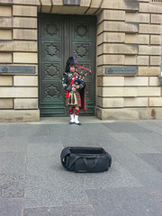 Edinburgh Bagpiper (melastmohican) Tags: scotsman instrument musicalinstrument edinburgh dress bagpipe city destination outfit royal uniform mile uk music traditional bagpiper person culture tradition highland busking great scottish travel street woodwind hill reed piper europe tourism doublereed scotland