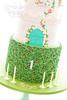 Nieces 1st Birthday Cake (tortacouturecakes) Tags: birthday pink green tower castle cake ruffles ticino vines purple ganache first massa fondant crenelations