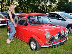 Classic Mini (Fast an' Bulbous) Tags: old summer england woman hot sexy classic sports girl car june evening nikon northamptonshire gimp oldtimer rare coupe meet earlsbarton d7100 worldcars earlsbartonclassicmeet