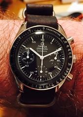 Omega Speedmaster Automatic (montnoirat) Tags: vintage watch omega automatic strap 1997 chronograph nato speedster