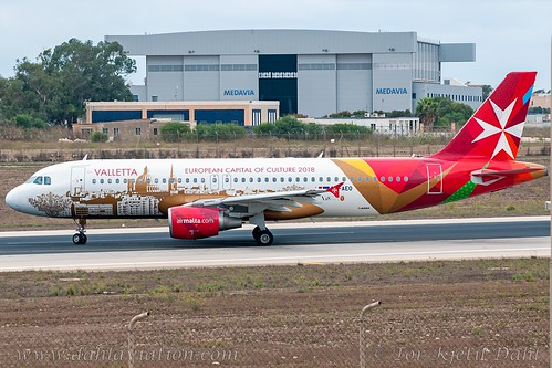 "9H-AEO, Air Malta, Airbus A320-214 - cn 2768.""Isla - Citta Invicta"" / ""Valletta - European Capital of Culture 2018"""
