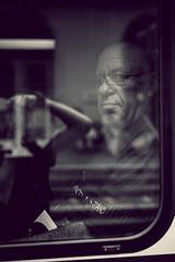 Was willst du? (B.Vop) Tags: street portrait people white man black window fenster zug bahnhof stadt mann brille zrich weiss schwarz strain glases schwarzweis ungefragt
