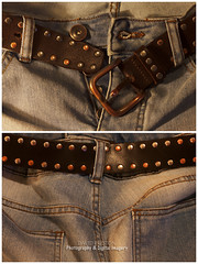 """ESSENTIAL DENIM"" (David~Preston) Tags: uk england back belt cheshire front jeans denim buckle studs pockets buttonfly photographershome"