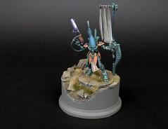 Eldar Wraithguard of craftworld Inallian (THE_ARCH1TECT) Tags: conversion banner gems base eldar wraith wraithguard craftworld dscythe inallian