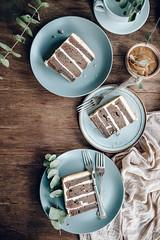 Chocolate Whiskey Cake with Salted Caramel Buttercream (Jet & Indigo) Tags: food cake dessert baking sweet chocolate lifestyle whiskey indoor eat caramel gathering teatime buttercream foodphotography foodstyling