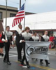 Spartans Drum & Bugle Corps (Mark Sardella) Tags: summer massachusetts parade 4thofjuly independenceday wakefieldma wakefieldindependencedayparade