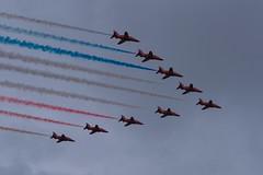 The Red Arrows (Neville Price 3) Tags: show swansea wales plane nikon display hawk aircraft redarrows raf