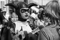 Around San Diego: Comic Con 2015-23 (rmc sutton) Tags: blackandwhite bw nikon cosplayer comiccon harleyquinn nikond800 alliewagner comiccon2015 comicconinterview2015
