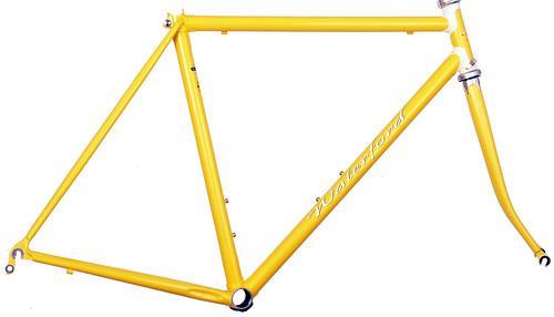 <p>Waterford 22-Series Road Sport featuring Sachs' Richissimo Lugs in Canary with painted lugs.  These lugs included built-in cable guides.</p>