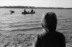 Sea to Air (Edbonsky) Tags: toronto canoeing lakeontario canadageese cherrybeach ilfordhp5plus leicam3