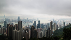 View from the Peak at the Central Hong Kong