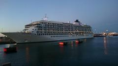 The World Cruise Ship, Dublin 9th August 2015. (aine60) Tags: cameraphone cruiseship bluehour theworldcruiseship sonyxperiaz3compact