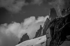 Voyage Parmi les Cimes (Frédéric Fossard) Tags: grain nuage glacier valléeblanche téléphérique télécabine cime crête arête nature altitude alpes hautesavoie massifdumontblanc legrandcapucin télécabinepanoramicmontblanc france italie blackwhitepassionaward noiretblanc breathtakinglandscapes