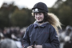 Shy young horsewoman (Frank Fullard) Tags: fullard portrait rider jockey horsewoman horse girl smile hair ballinasloe fair irish ireland galway shy
