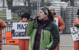 Chrissy Stonebraker-Martinez Speaks at an Anti-Torture Demonstration Outside the White House