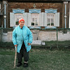 (Anton Novoselov) Tags: russian village portrait old woman film babushka outdoor house rolleiflex kodak portra
