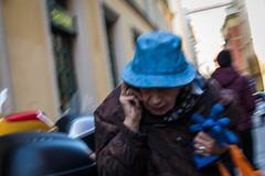 Bologna, 2016 (Antonio_Trogu) Tags: streetphotography candid urban antoniotrogu ricohgr 2016 italia italy emilia emiliaromagna bologna donna woman anziana elderly cappello guanti hat gloves blue azzurro azzurri nikond3100 nikonafs35mm18 motion blur
