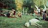 (analogrem) Tags: samsara festival europe dog peace summer heat sleep people calmness love dance music film analog adox