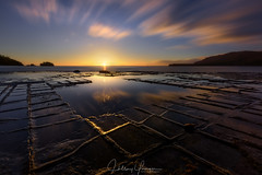 Checkmate (hillsee) Tags: tessellated haidananprofilter longexposure cloud motion pattern reflection dawn sunrise light seascape water ocean coast tasmania tessellatedpavement