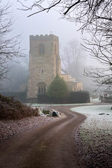 Kirkby Fleetham Church - Freezing Fog (Pixelda) Tags: pixelda kirkby fleetham