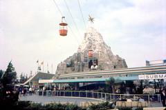 1962 Matterhorn Bobsleds, Disneyland monorail and submarine voyage (Tom Simpson) Tags: disney disneyland vintage vintagedisney vintagedisneyland 1962 1960s matterhorn mountain rollercoaster matterhornbobsleds skyway tomorrowland monorail submarinevoyage