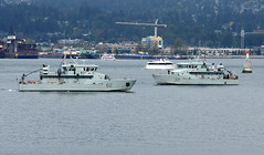 62 Moose and 59 Wolf (John W Olafson) Tags: rcn navy royalcanadiannavy orcaclass coalharbour vancouver
